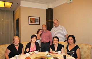 Legend Asia Group during dinner