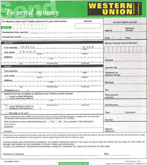 searchitfast web western union money transfer receipt. Black Bedroom Furniture Sets. Home Design Ideas