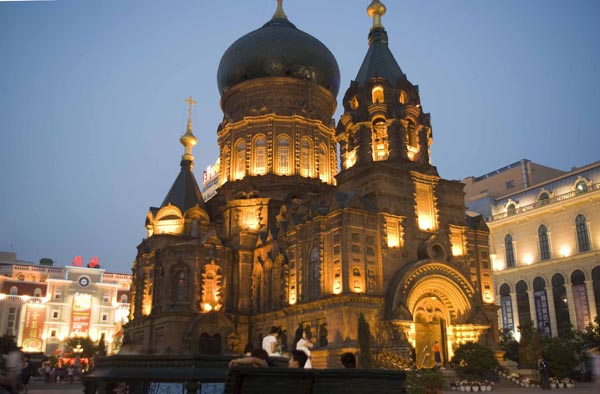Photo  Image  U0026 Picture Of St  Sophia Cathedral Light Scene