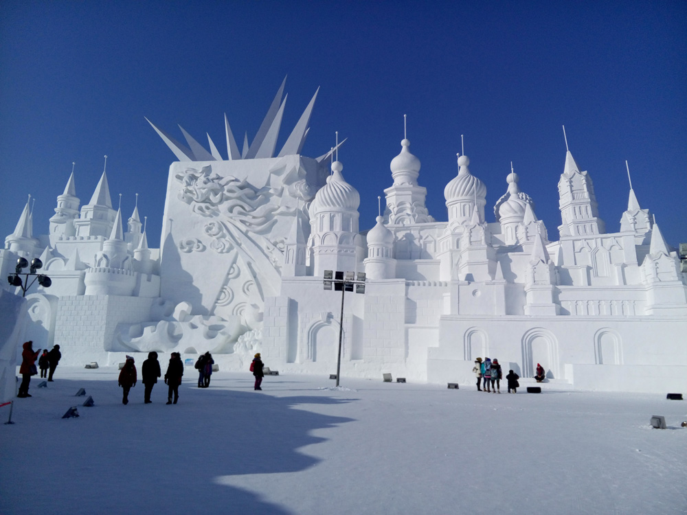 The Harbin Ice and Snow Sculpture Festival is a feat of