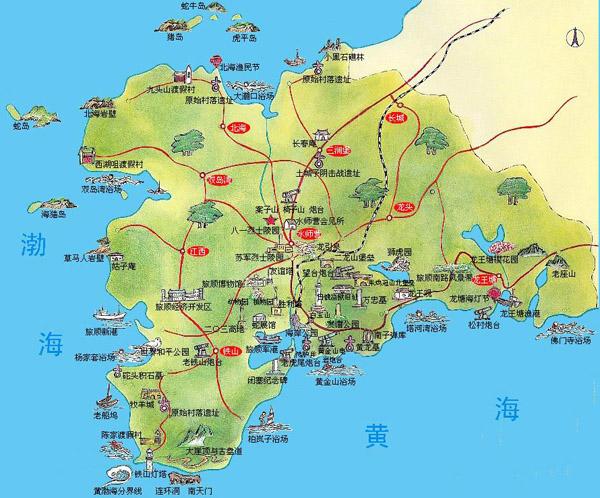 on dalian china map